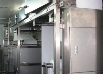 Flat sheet membrane coating machine